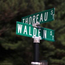 Street names in Concord, Massachusetts named after Thoreau