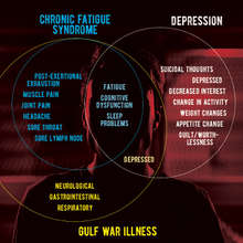 Overlapping diagnostic symptoms for chronic fatigue syndrome, Gulf war illness and major depressive