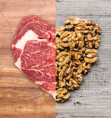 Meat or nuts for the heart's desire?